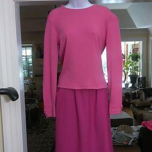 Carlisle ladies pink long sleeve top